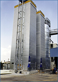 Grain dryer manufactured for Casa Olearia, S. Pietro di Morubio (VR) - Italy